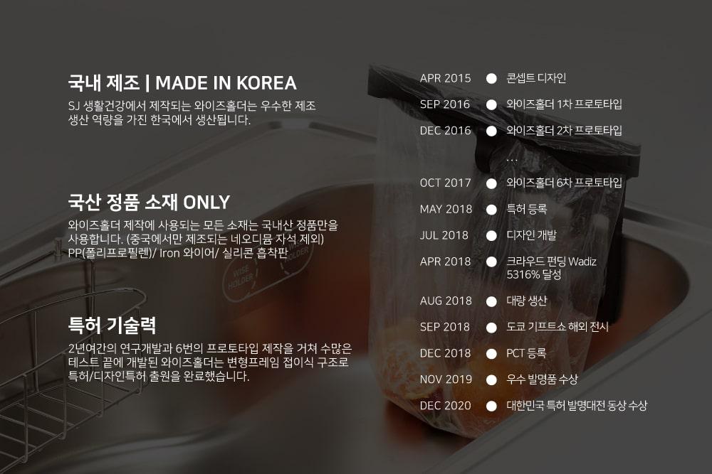 와이즈홀더는 대한민국 제품입니다.