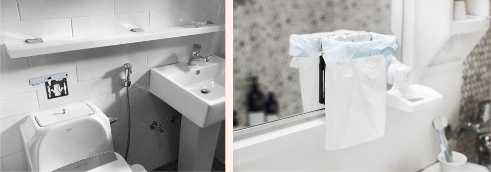 변기에 넣을 수 없는 욕실 쓰레기도 깔끔하게 처리!